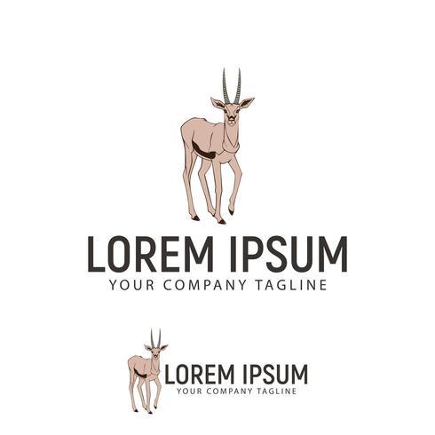 plantilla de concepto de diseño de logotipo dibujado mano ciervos vector