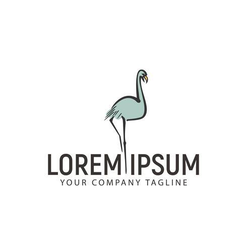 Modelo de conceito de design de logotipo de mão desenhada de cisne