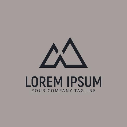 modern minimalist mountain logo design concept template
