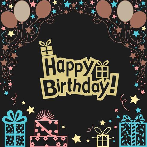 Happy Birthday Illustration background vector