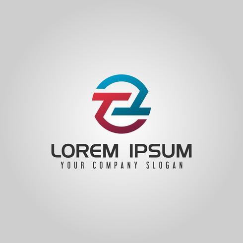 lettera T logo. modello di concetto di design del cerchio