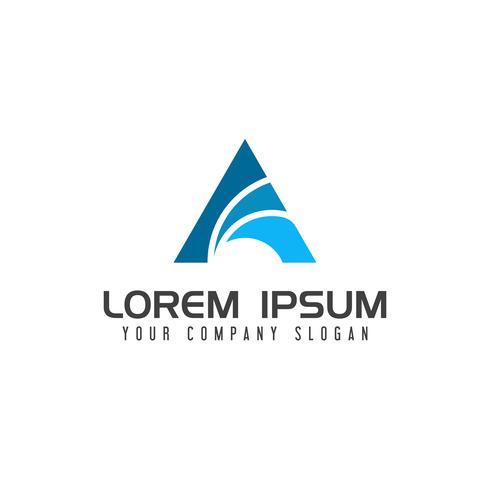 logotipo de la letra A. plantilla de concepto de diseño de logotipo de finanzas de negocios