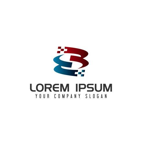 Plantilla de concepto de diseño de logotipo de tecnología letra S