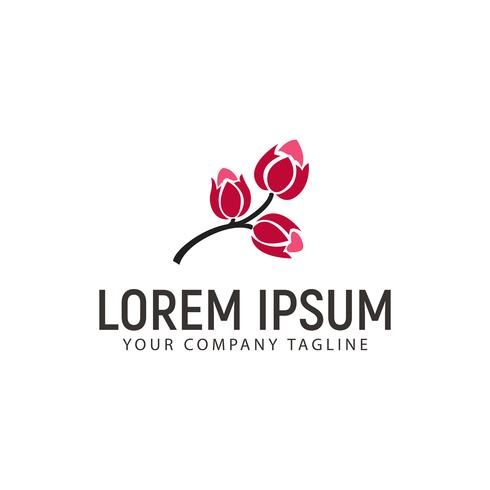 Modelo de conceito de design de logotipo de flor