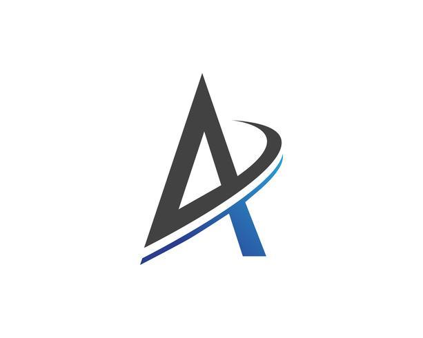 Un icono del vector de la plantilla del logotipo de la letra