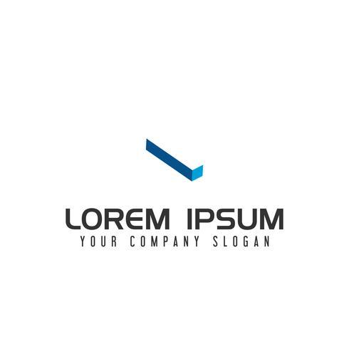 Plantilla de concepto de diseño de logotipo de letra I espacio negativo