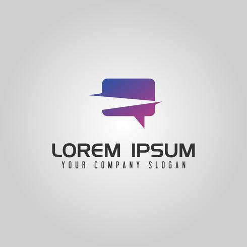 Modern chat logo design concept template