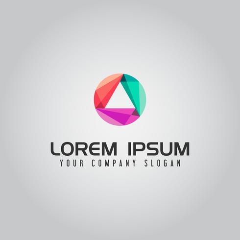 Modèle de concept de conception de logo abstrait triangle technologie logo vecteur