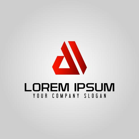 Modern letter Um logotipo. modelo de conceito de design
