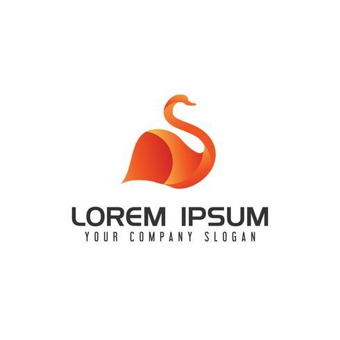 logotipo moderno da cisne