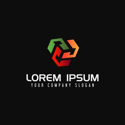 Box Media Logo Design-Konzept-Vorlage