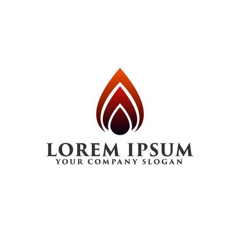 Modelo de conceito de design de logotipo de ignição de fogo
