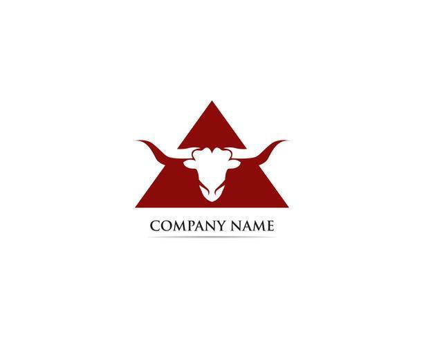 Stierenhoorn logo en symbolen sjabloon
