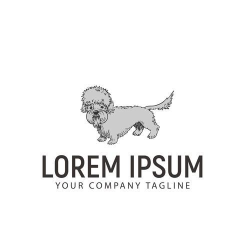 Sta hond logo op. hond logo ontwerpsjabloon concept