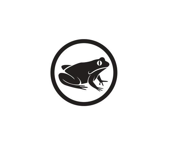 modello di logo simboli rana verde