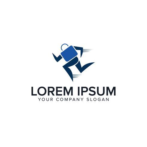 loopzak. zakelijke financiën logo ontwerpsjabloon concept