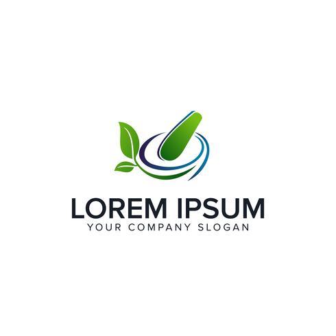 modèle de concept de médecine pharmacie pharmacie à base de plantes logo