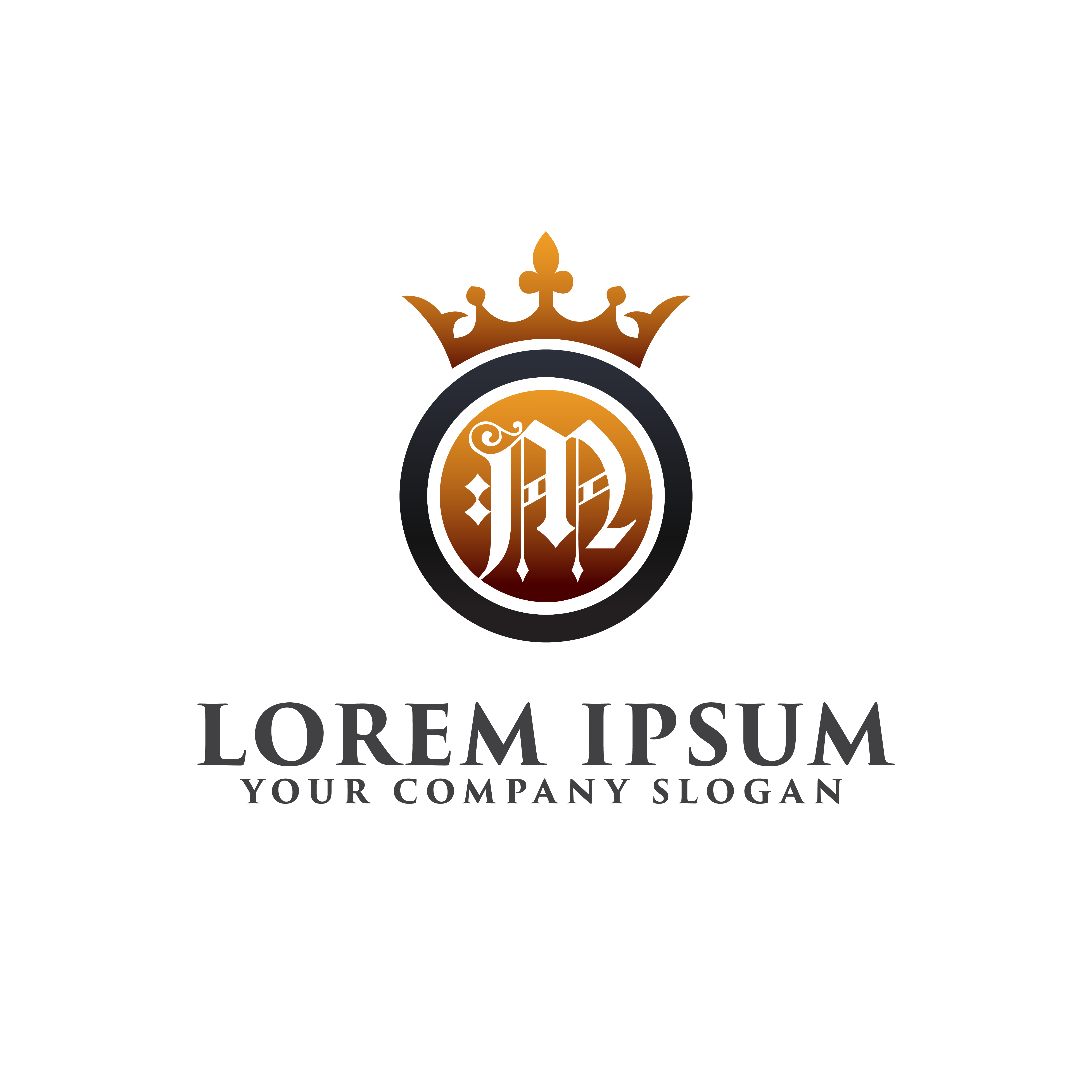 Vintage And Luxury Logo Template:  Luxury Letter M With Crown Logo Design Concept Template