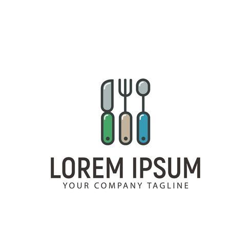 Forchetta cucchiaio coltello Logo design concetto modello