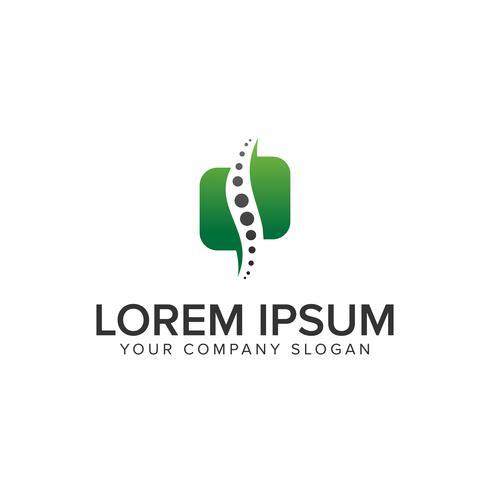 ryggradssymbolen. medicin apotek växtbaserade logo design koncept mall
