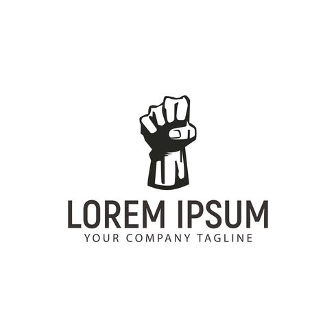hand up freedom logo design concept template vector