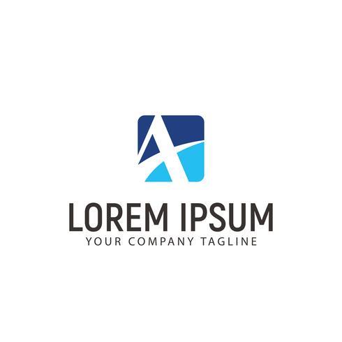 Lettre Un modèle de concept de design de logo d'entreprise