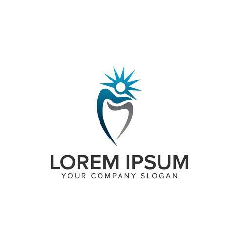 zahnmedizinische Logo-Design-Konzept-Vorlage
