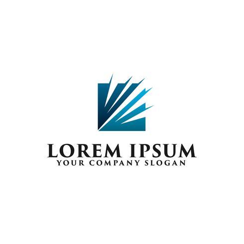 modèle de concept abstrait squre business technologie logo design