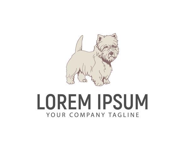 Sta hond logo op. huisdierenhond logo logo ontwerpsjabloon concept