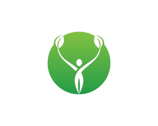 grünes Blatt Ökologie Natur Element Vektor Icon