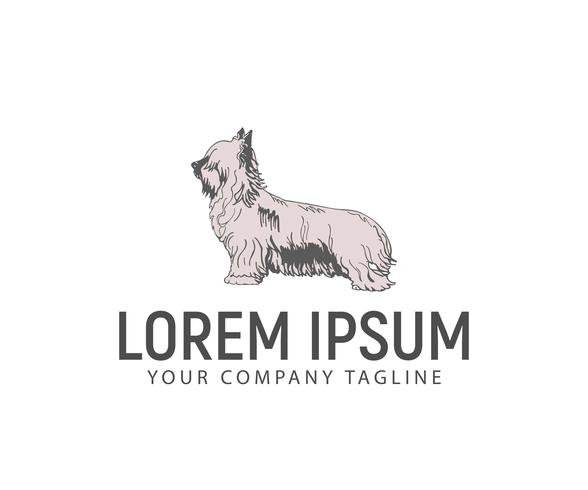 Stand dog logo. pet dog logo logo design concept template