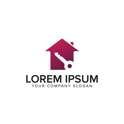 Hausschlüssel-Logo. Immobilien-Design-Konzept-Vorlage