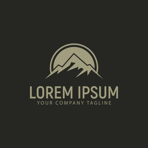 plantilla de concepto de diseño de logotipo de montaña