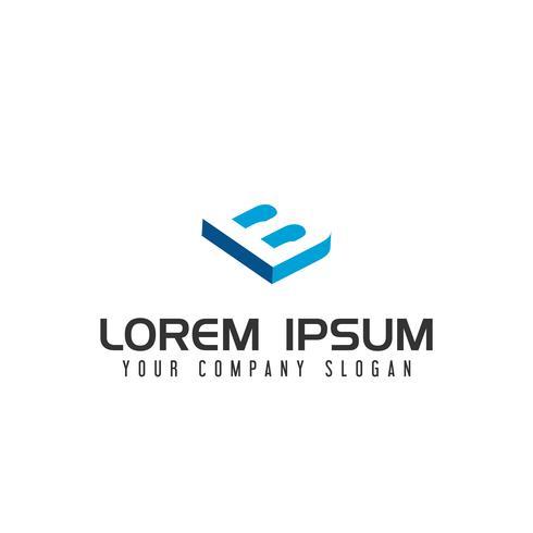 Modelo de conceito de design de logotipo de espaço negativo letra B