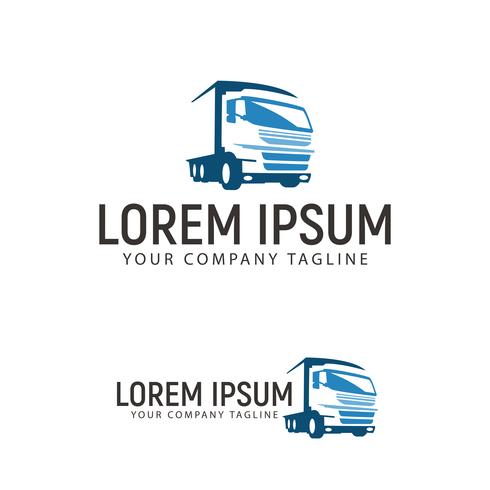 Transporte por carretera plantilla de concepto de diseño de logotipo