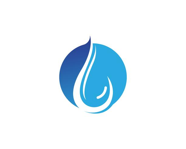 Wassertropfen Logo Template-Vektorillustrationsdesign - Vektor