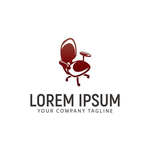modello di concetto di design di ufficio sedia logo