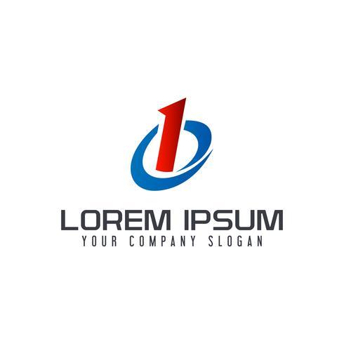 Letter B logo. business technology design concept template vector
