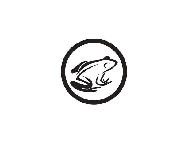 modèle de logo symboles grenouille verte