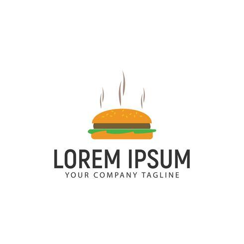 burger logo design koncept mall
