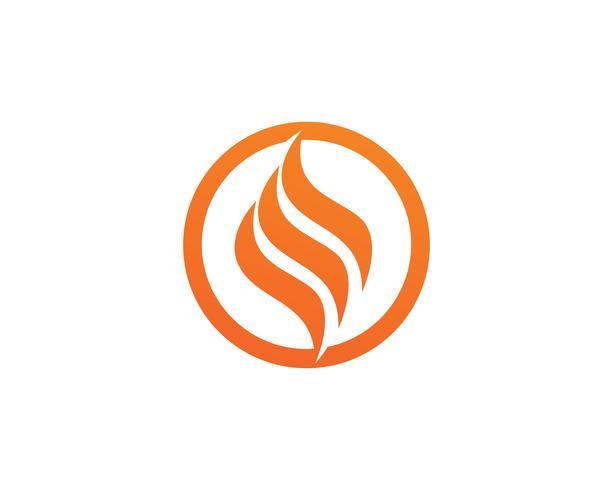 Icono de vector de plantilla de logotipo de llama de fuego Concepto de logotipo de petróleo, gas y energía