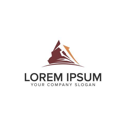 Modelo de conceito de design de logotipo Moutain