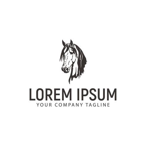 logo di testa di cavallo. modello di concetto di design vintage