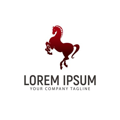 Pferd springen Logo-Design-Konzept-Vorlage