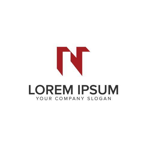 Modèle de concept lettre N logo concept design vecteur