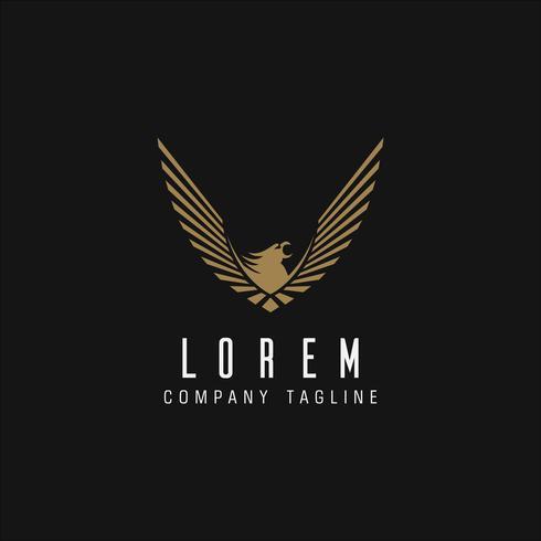 Plantilla de concepto de diseño de logotipo de águila de lujo