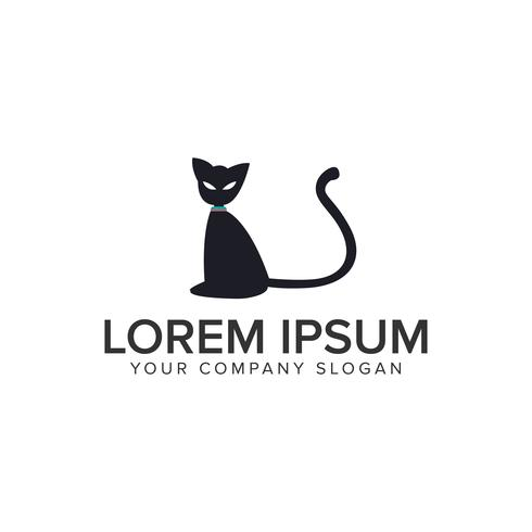 Plantilla de concepto de diseño de logotipo de gato. vector completamente editable