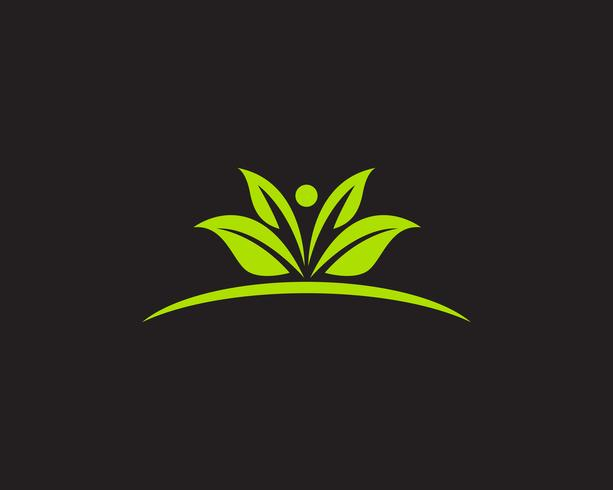 Logos green leaf ecology nature element vector icon