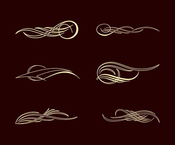 Conjunto de colección de estilo de pinstriping de América