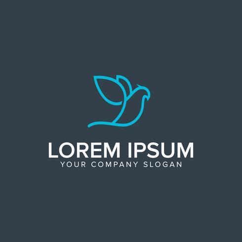 logo dell'uccello. modello di concetto di design moderno schema